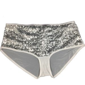 VICTORIA'S SECRET DREAM ANGELS SILVER  BOYSHORT